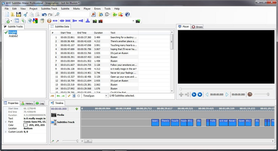 AHD Subtitles Maker 5.14 Professional Full Version Download