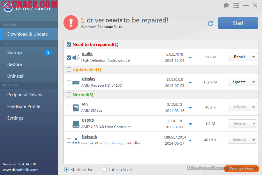 Driver Talent Pro 6.4.46.144 Crack Incl Activation Code