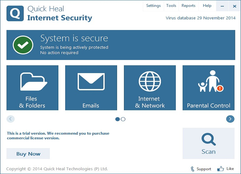 Quick Heal Internet Security 2016.17.0 Crack Key (64-bit) (1)