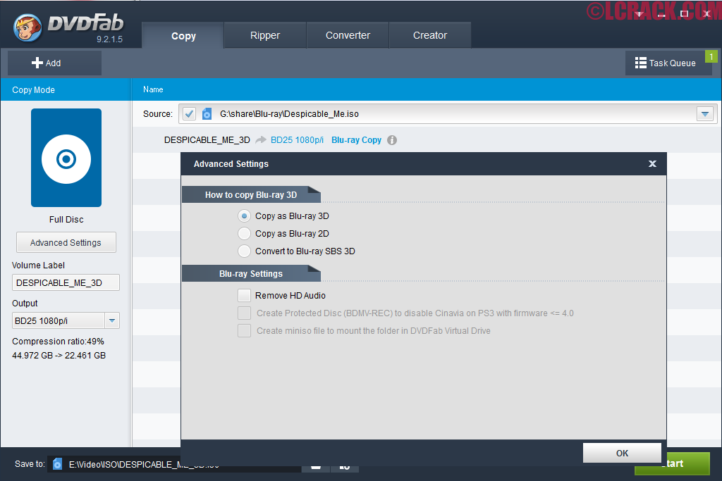 DVDFab HD Decrypter 10.0.1.0 Crack Download Full Version