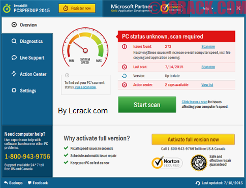 TweakBit PCSpeedUp 1.7.2.4 Crack License Key 2016