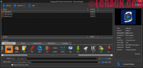 Program4Pc Video Converter Pro 9 Activation Key