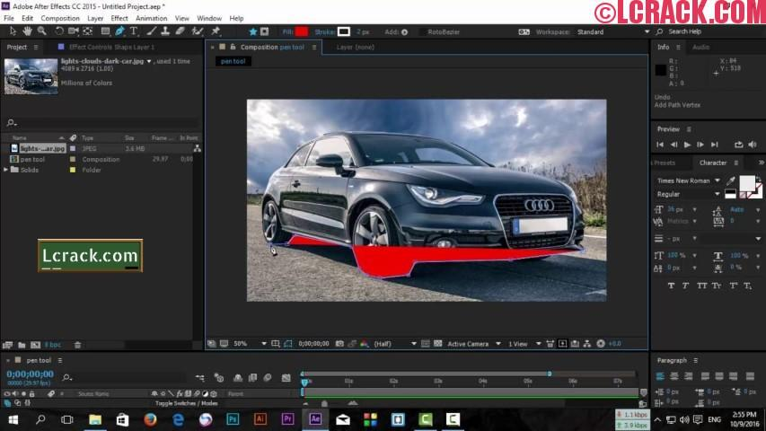 Adobe After Effects CC 2018 15.0.0 Crack + Patch