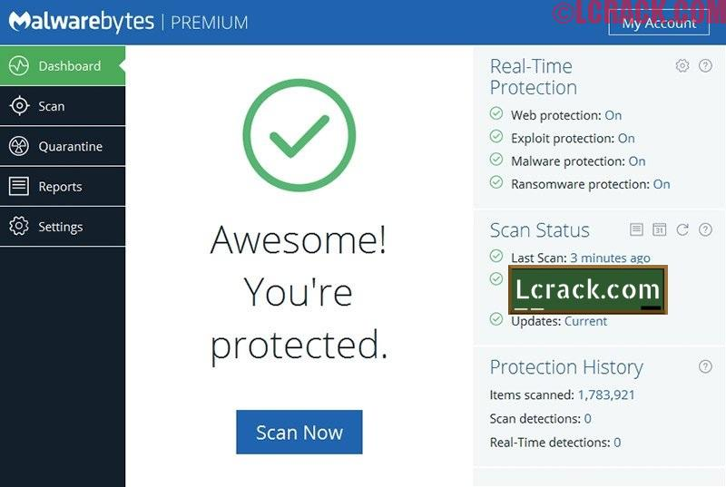 Malwarebytes Anti-Malware 3.3.1 Premium Crack With Key