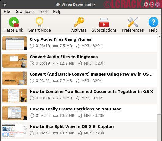 4k Video Downloader 4.4.5 Crack + key