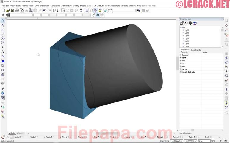 TurboCAD 2019 Platinum 26.0 Build 34.1 Activation Code